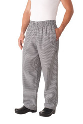 Small Check Baggy Chef Pants