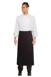 Continental Apron with No Pockets - Black