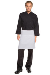 Half Apron with Pocket - White