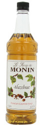 MONIN HAZELNUT SYRUP -1litre PET BOTTLE