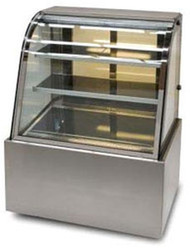 Anvil Aire DSC0730. COLD CURVED GLASS SHOWCASE -900mm. Weekly Rental $35.00