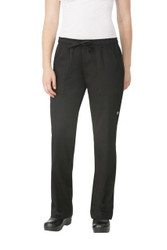 Womens Black Basic Chef Pants
