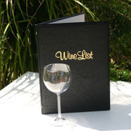 A4 Classic Wine List Cover - Eyeletted - Printed
