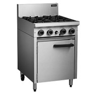Cobra CR6D GAS RANGE STATIC OVEN - 4 BURNER. Weekly Rental $38.00