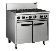 Cobra CR9D GAS RANGE STATIC OVEN - 6 BURNER -900mm. Weekly Rental $48.00