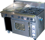 Goldstein PF-8-40 GAS 8 BURNER -1010mm STATIC OVEN. Weekly Rental $92.00