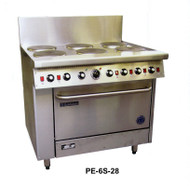Goldstein - PE-6S-28FF - Electric range 6 plate & Fan Forced Oven - 19 Kw. Weekly Rental $94.00