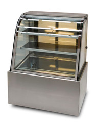 Anvil Aire DSC0740 CURVED GLASS SHOWCASE -1200mm. Weekly Rental $37.00