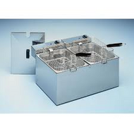 Roller Grill RF 8 DS DOUBLE PAN DEEP FRYER -2x8Litre - 2 X 15 AMP. Weekly Rental $13.00
