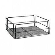 SQUARE HIGH SIDED GLASS BASKET -BLACK PVC COATED