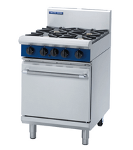 Blue Seal G504D GAS RANGE STATIC OVEN 4 BURNERS. Weekly Rental $52.00