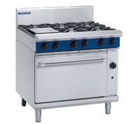Blue Seal G506D GAS RANGE STATIC OVEN 6 BURNER -900mm. Weekly Rental $65.00