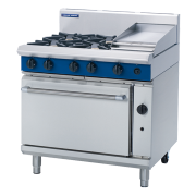 Blue Seal G506C GAS RANGE STATIC OVEN 4 BURNERS + 300mm GRIDDLE. Weekly Rental $73.00