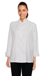 Sofia Womens White Lite Chef Coat