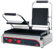 Anvil TSS3000 15 AMP DOUBLE PANINI PRESS -RIBBED TOP/FLAT BOTTOM PLATE. Weekly Rental $8.00