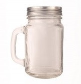 MASON JAR WITH LID & HANDLE -480ml
