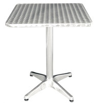 STAINLESS STEEL SQUARE BISTRO TABLE 60x60cm