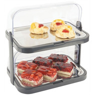 DOUBLE ROLL TOP CAKE DISPLAY WITH COOL PLATE