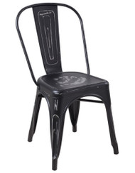 """RFC"" STEALTH DISTRESSED LOOK BLACK CHAIR"