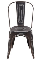 """RFC"" STEALTH DISTRESSED LOOK RUST CHAIR"
