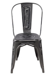 """RFC"" STEALTH DISTRESSED LOOK GREY CHAIR"