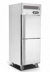 Saltas EUS1738 SINGLE S/S SPLIT DOOR FRIDGE 580Litre. Weekly Rental $25.00