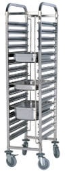 TRS0015 - SINGLE GASTRONORM TROLLEY -15 TRAYS