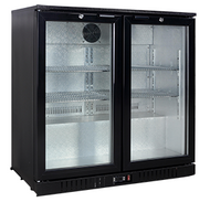 Exquisite UBC210 BACK BAR 2 DOOR CHILLER 208litre. Weekly Rental $9.00