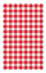 RED GINGHAM GREASEPROOF PAPER SHEETS 190 x 310mm