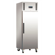 POLAR - DL893 - STAINLESS STEEL SINGLE DOOR UPRIGHT FRIDGE - 600 LITRE. Weekly Rental $22.00