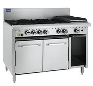 LUUS - CRO-6B3P - SIX BURNERS WITH 300 MM GRIDDLE. Weekly Rental $72.00