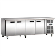 POLAR - G598 - 4 Door Counter Fridge 553 Ltr. Weekly Rental $27.00