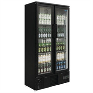 POLAR - GJ448 - Upright Back Bar Cooler Double Sliding Doors. Weekly Rental $16.00