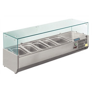 POLAR - GD875 - REFRIGERATED SERVERY TOPPER. Weekly Rental $9.00