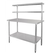VOGUE - CC359 - STAINLESS STEEL TABLE WITH GANTRY. Weekly Rental $9.00