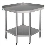 VOGUE - CB907 - STAINLESS STEEL CORNER UNIT. Weekly Rental $4.00