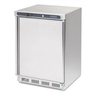POLAR - CD081 - 140 LITRE UNDERCOUNTER FREEZER - STAINLESS STEEL. Weekly Rental $11.00