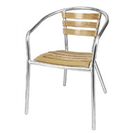 BOLERO - U421 -  Aluminium and Ash Chairs (Pack of 4)