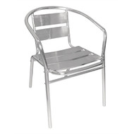BOLERO - U419 -  Aluminium Stacking Chairs (Pack of 4)