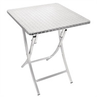 BOLERO - GK990 -  Square Folding Bistro Table Aluminium 600mm