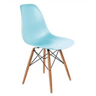 BOLERO - GG919 - Ocean Blue Polypropylene Replica Eames Chairs (Pack of 2)