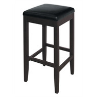 BOLERO - GG648 - Faux Leather High Bar Stools Black (Pack of 2)