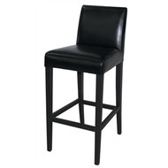 BOLERO - GG651 -  Faux Leather High Bar Stool Black