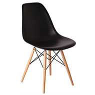 BOLERO - GG914 - Black Polypropylene Replica Eames Chairs (Pack of 2)