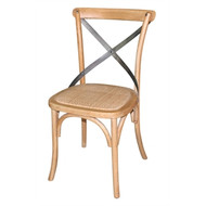 BOLERO - GG656 - Natural Wooden Dining Chairs with Backrest (Pack of 2)