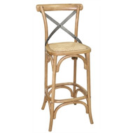 BOLERO - GG657 - Wooden Barstool with Backrest