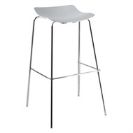 BOLERO - GG711 - White Polypropylene Barstools (Pack of 4)