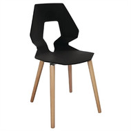 BOLERO - GM655 - Black Polypropylene Angel Chairs (Pack of 4)