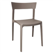 BOLERO - GM668 - Coffee Polypropylene Bistro Side Chairs (Pack of 4)