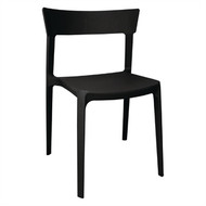 BOLERO - GM667 - Black Polypropylene Bistro Side Chairs (Pack of 4)